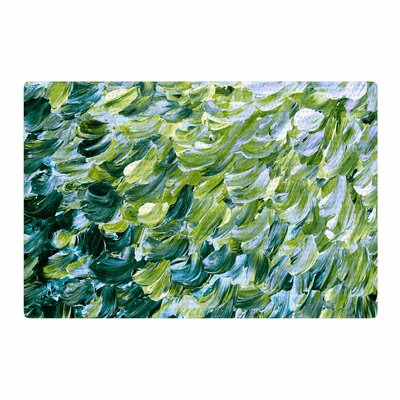 Ebi Emporium Frosted Feathers 3 Green/Yellow Area Rug Rug Size: 2 x 3