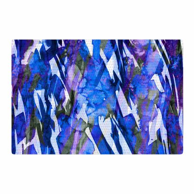 Ebi Emporium Frosty Bouquet 3 Blue/Purple Area Rug Rug Size: 4 x 6