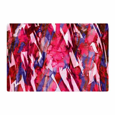 Ebi Emporium Frosty Bouquet 5 Abstract Maroon Area Rug Rug Size: 2 x 3