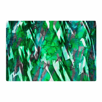 Ebi Emporium Frosty Bouquet 7 Green Abstract Area Rug Rug Size: 4 x 6