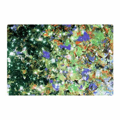 Ebi Emporium into to the Night Lime/Lavender Area Rug Rug Size: 2 x 3