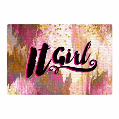 Ebi Emporium It Girl Pink/Black Area Rug Rug Size: 4 x 6