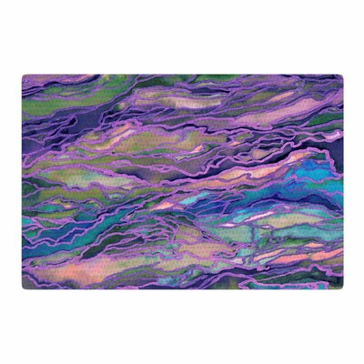 Ebi Emporium Marble Idea! Geological Purple Area Rug Rug Size: 2 x 3
