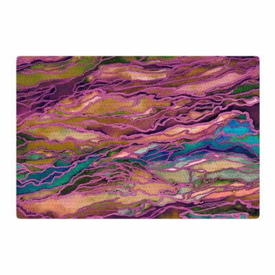 Ebi Emporium Marble Idea! - Light Jewel Tone Lavender/Pink Area Rug Rug Size: 2 x 3