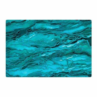 Ebi Emporium Marble Idea! Aqua/Blue Area Rug Rug Size: 2 x 3