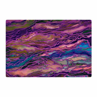 Ebi Emporium Marble Idea! - Rich Jewel Tone Purple/Pink Area Rug Rug Size: 2 x 3