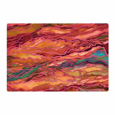 Ebi Emporium Marble Idea! Tropic Fusion Orange/Red Area Rug Rug Size: 2' x 3'