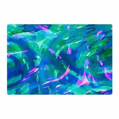 Ebi Emporium Motley Flow 5 Blue/Teal Area Rug Rug Size: 2 x 3