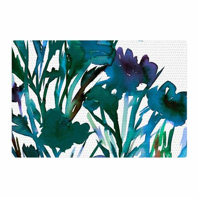 Ebi Emporium Petal for Your Thoughts Turquoise/Green Area Rug Rug Size: 2 x 3