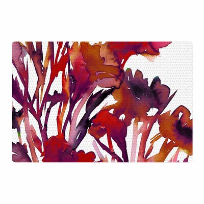 Ebi Emporium Pocket Full of Posies Maroon/Purple Area Rug Rug Size: 2 x 3