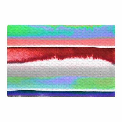 Ebi Emporium Prism Stripe 2 Red/Blue Area Rug Rug Size: 2 x 3