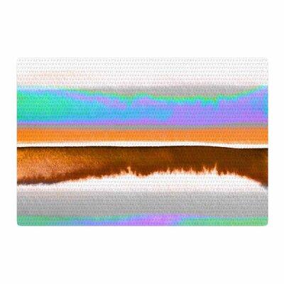 Ebi Emporium Prism Stripes 1 Purple/Aqua Area Rug Rug Size: 2 x 3