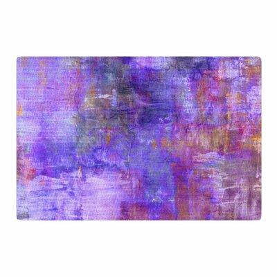 Ebi Emporium Fog Painting Purple Area Rug Rug Size: 2' x 3'
