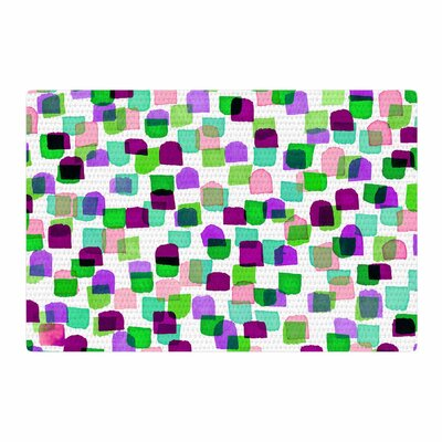 Ebi Emporium Retro Mod Dots 3 Green/Purple Area Rug Rug Size: 2 x 3