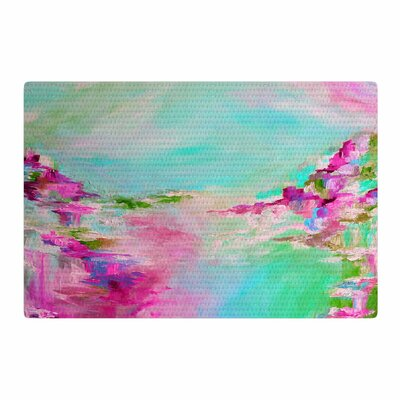 Ebi Emporium Something about the Sea 2 Teal/Pink Area Rug Rug Size: 2 x 3