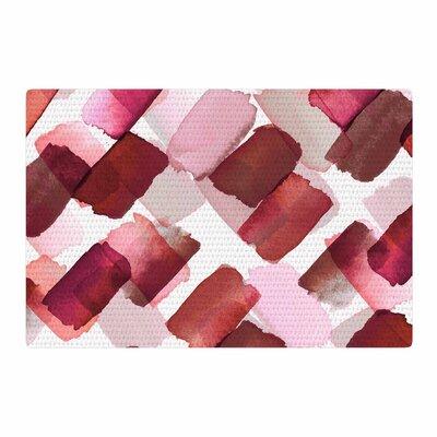 Ebi Emporium Strokes of Genius 7 Red/Pink Area Rug Rug Size: 2 x 3