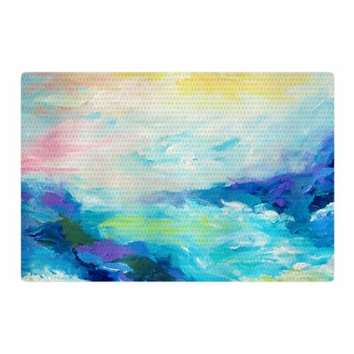 Ebi Emporium Taken By the Undertow Green/Blue Area Rug Rug Size: 2 x 3
