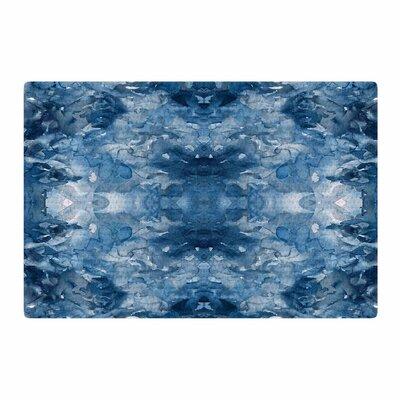 Ebi Emporium Tie Dye Helix Blue/White Area Rug Rug Size: 2 x 3