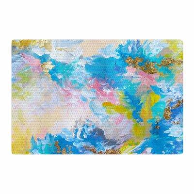Ebi Emporium When We Were Mermaids Blue/Yellow Area Rug Rug Size: 2 x 3