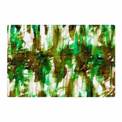 Ebi Emporium Noise 4 Green/Olive/White Area Rug Rug Size: 2 x 3