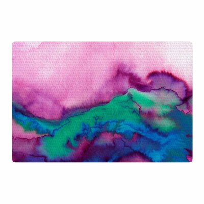 Ebi Emporium Winter Waves 2 Watercolor Pink Area Rug Rug Size: 2 x 3