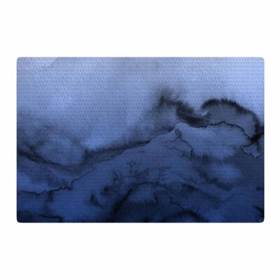 Ebi Emporium Winter Waves 3 Blue/Black Area Rug Rug Size: 2 x 3