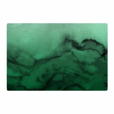 Ebi Emporium Winter Waves 7 Green/Black Area Rug Rug Size: 2 x 3