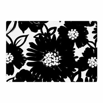 Emine Ortega Monochromatic Blooms Black/White Area Rug Rug Size: 2 x 3