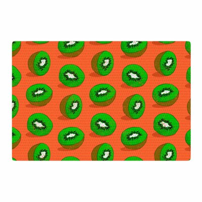 Evgenia Kiwifruit Orange/Green Area Rug Rug Size: 2 x 3