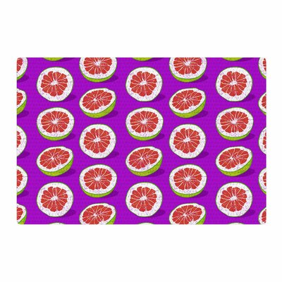 Evgenia Pomelo Purple/Red Area Rug Rug Size: 2 x 3