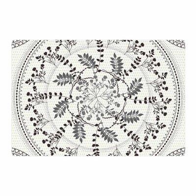 Famenxt Magical Vibes Boho Madellion Pattern Black Area Rug Rug Size: 2 x 3