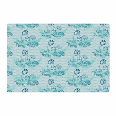 Famenxt Ocean Blue Area Rug Rug Size: 2 x 3