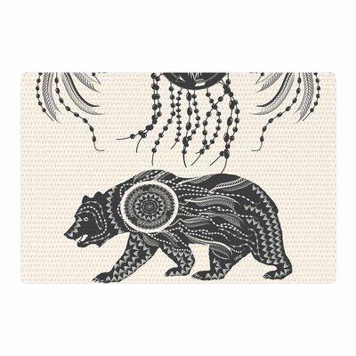 Famenxt Boho Ornate Bear Beige/Black Area Rug Rug Size: 2 x 3