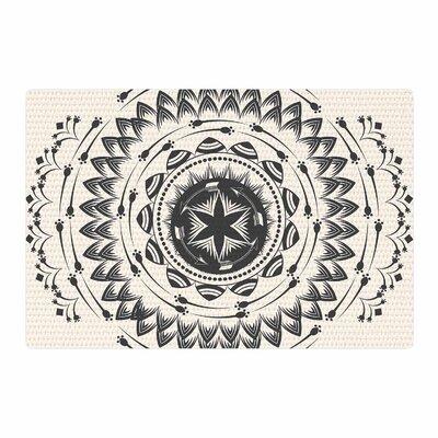 Famenxt Boho Tribe Mandala Beige/Black Area Rug Rug Size: 2 x 3