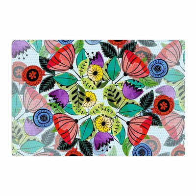 Famenxt Fresh Spring Flowers Floral Area Rug Rug Size: 2 x 3