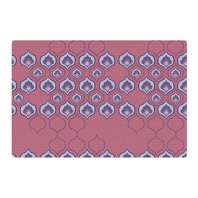 Fernanda Sternieri Happy Path Pattern Coral Area Rug Rug Size: 2 x 3