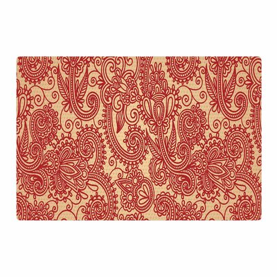 Fotios Pavlopoulos Floral Loop Red/Tan Area Rug