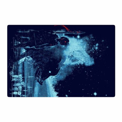 Frederic Levy-Hadida Nature Defenders Illustration Blue Area Rug Rug Size: 2 x 3