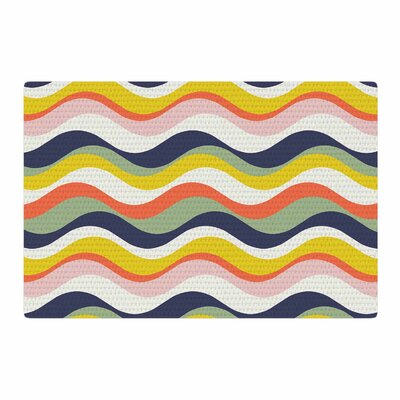 Gukuuki Rainbow Stripes Area Rug Rug Size: 2 x 3