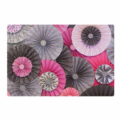 Heidi Jennings Bubble Gum Pink/Gray Area Rug Rug Size: 2 x 3