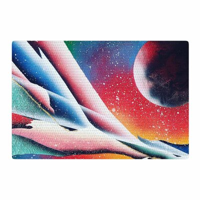 Infinite Spray Art String Theory Red/Blue Area Rug Rug Size: 4 x 6