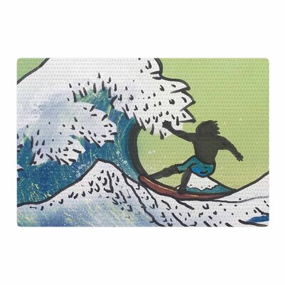 Infinite Spray Art	 Hokusai Remake Blue/Green Area Rug Rug Size: 4 x 6