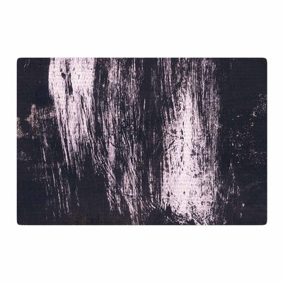 Iris Lehnhardt Brushstrokes 1 Abstract Gray Area Rug Rug Size: 2 x 3