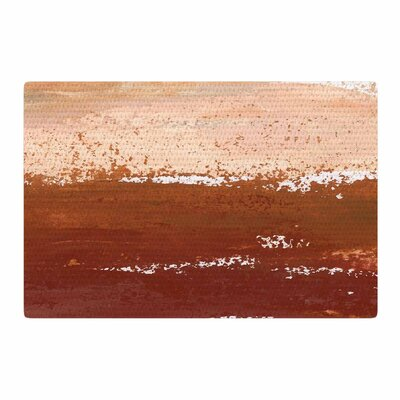 Iris Lehnhardt Cinnamon Chai Painting Orange Area Rug Rug Size: 4 x 6