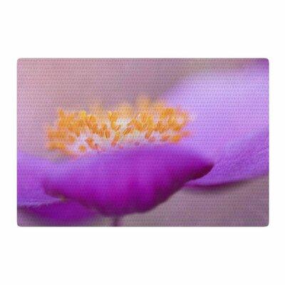 Iris Lehnhardt Grace Floral Purple Area Rug Rug Size: 2 x 3
