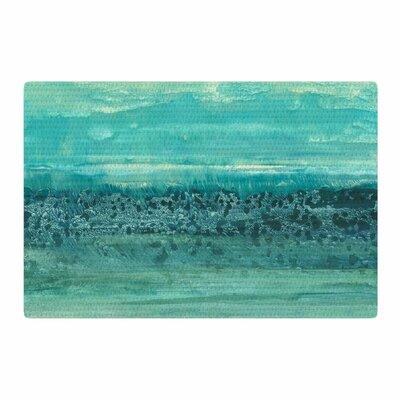Iris Lehnhardt Oceanic Teal/Blue Area Rug Rug Size: 4 x 6