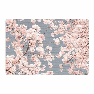 Iris Lehnhardt Rosy Sky Floral Pink Area Rug Rug Size: 4 x 6