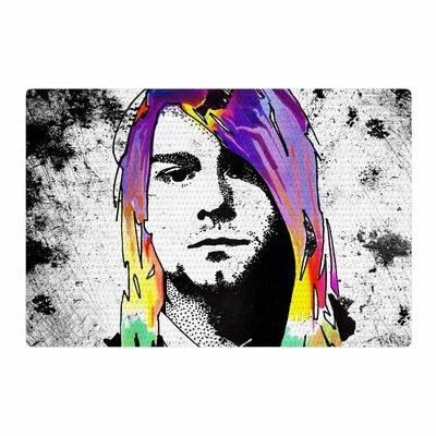Ivan Joh Grunge Pop Art Lavender Area Rug Rug Size: 2 x 3
