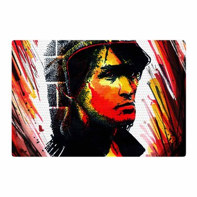 Ivan Joh Tsoi Is Alive Red Area Rug Rug Size: 2 x 3