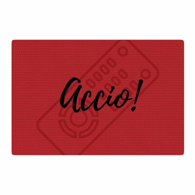 Jackie Rose Accio! Remote Illustration Red Area Rug Rug Size: 2 x 3